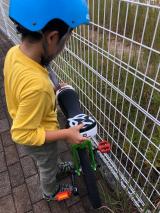 「あれから1か月。地道に練習中!ニンジャウィール(一輪車)で、忍者(エクストリーム)にトライ!」の画像(3枚目)