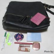 「通勤用のバッグです。」【30名募集】鞄の中身と一緒にお洒落に撮影&投稿!ローズフレグランスサプリモニター大募集!の投稿画像