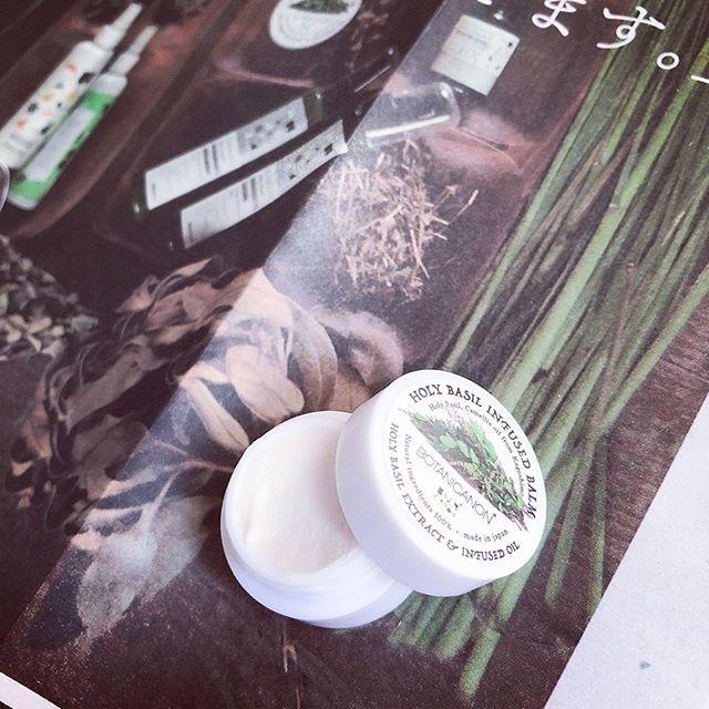 口コミ投稿:ボタニカノンのホーリーバジルバームのモニターをさせていただきました♪香りがほんの…