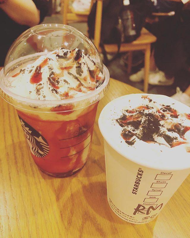 口コミ投稿:#スターバックス #darknight #halloween #coffeeキウイ #カフェ #cafe #chocolate #c…