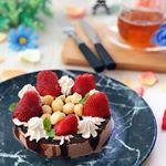 *****@kyoritsu_kitchen のマカデミアナッツ🥜アイス🍨ケーキ🎂を作ってみました❣️*老舗チョコレートブランド「ハワイアンホースト」とのコラボ商品です!…のInstagram画像