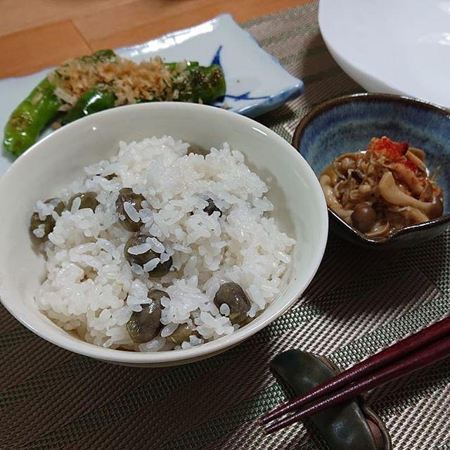 口コミ投稿:.#黒豆枝豆ごはん#おでん と一緒に食べた #ご飯 。ほくほくの #黒豆枝豆 が美味しい💕…