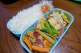 ある日のお弁当(豚肉とネギの炒め物)の画像(2枚目)