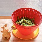*・*・*・*・*・.ちょっとお腹がすきました😂大好物見つけ🤭お昼に食べよ🎵.ボール&コランーセットS下ごしらえを簡単&コンパクトに🙌.🥗野菜を洗う 🚰水を切る❇️…のInstagram画像