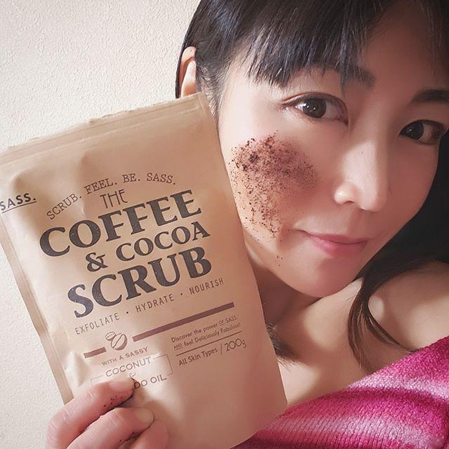 口コミ投稿:コーヒーのいい香り❤️SASSコーヒー&ココアスクラブ 使ってみたよ☕コーヒーを特別に細…