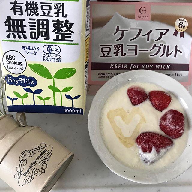 口コミ投稿:豆乳で発酵するヘルシーヨーグルト✨⤴️株式会社コルコルケフィア豆乳ヨーグルト・…