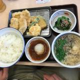 今日のお昼ご飯ご飯はさん天の画像(1枚目)