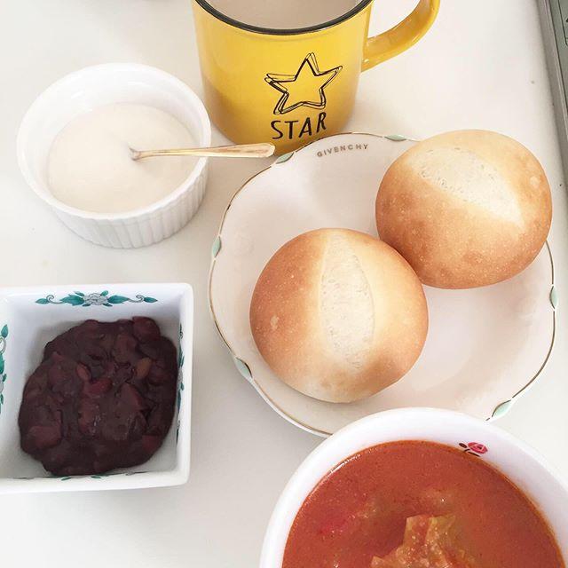 口コミ投稿:#朝食#焼きたてパン#あんこ#豆乳ヨーグルト#ミネストローネみんな自家製❤️ 、、、#幸…