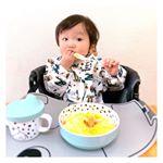 𓂃 ˚‧ 𓆸⁑ .最近、手掴みだけじゃなく自分で必死にスプーン使って食べてみようとしてて成長に嬉しくなっちゃう⸜(*ˊᗜˋ*)⸝⋆*可愛い食器とシリコンマットで食事がもっと楽し…のInstagram画像