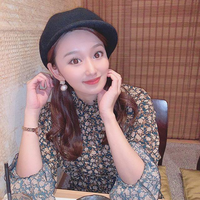 口コミ投稿:🥢*ともにゃんと、しゃぶしゃぶ🐷*帽子も服も、全部韓国で買ったもの。カラコンは #エ…