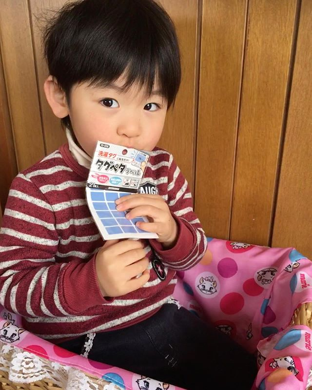 口コミ投稿:KAWAGUCHI様のタグペタラベルが頂いたので使ってみたよ!保育園や幼稚園のお着替えに…