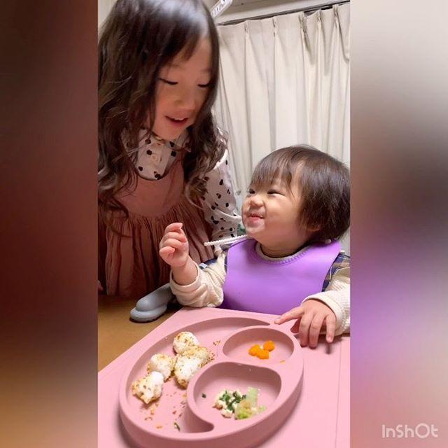 口コミ投稿:おりりはとってもよく食べる☺️(当社比←) あにるかが食が細くてずっと食べない悩み…