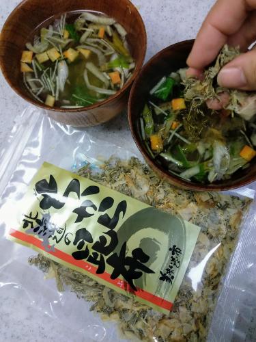 即席スープに『北海道のちから昆布』で旨味アップ