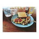 朝食🥞💕#トースト#モーニング#朝食#スクランブルエッグ #金の食パン #朝ごはん#ごはん#おうちごはん#ワンプレート#料理#カフェ#おしゃれさんと繋が…のInstagram画像