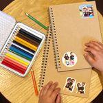 *#m_mamaモニプラ*もう一つ、ホテルで子供達が遊べるように持って行ったのがDAISOのノート📔*無印みたいなシンプルデザインがいい🙆♀️✨*色鉛筆でお絵描き…のInstagram画像