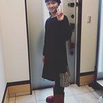 【あったか裏シャギーワンピース 160サイズ】・・#ニッセン の可愛いワンピース😍小5の娘❤️お気に入り❗️裏生地がモコモコ暖かくて、着心地やデザイン最高です♫・シンプルカラー…のInstagram画像