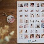 アプリで簡単に作れる@seel.jp を使ってシートタイプのシールとキーホルダーを作ってみました❤︎.キーホルダーは義両親にプレゼント🎁.シールは年賀状にペタッと貼り付…のInstagram画像