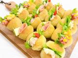 美活レシピ!青汁パウダーを使ったちぎりパンサンドイッチの画像(1枚目)