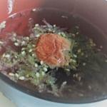 紀乃家の「海藻がいっぱい入った丸ごと梅のお吸い物」!!梅と海藻の良い香りが口に広がって、すごく上品な味わいです(*´ω`*) #紀乃家 #紀乃家_梅干専門 #梅のお吸い物 #食つかれた胃にやさしい…のInstagram画像