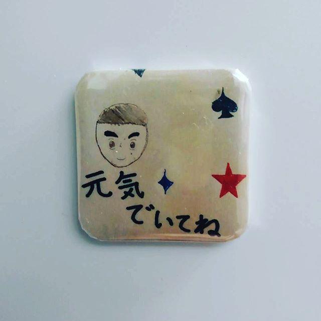 口コミ投稿:息子が描いた絵とメッセージをiPhoneで撮り、「みんなのバッジ」アプリでマグネット…