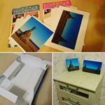 「オールインワンファブリックパネル」に、年始の思い出をのせてみました♪・海辺での「どんど焼き」の風景です。・家のプリンターで印刷しても作れるキットなのですが、私はプリントサービスを利用…のInstagram画像
