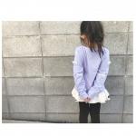 ...tops: #nissen...リボン🎀 & レース🎗が可愛い///..生地が結構しっかりしてて洗濯しても シワにならない🙄‼️.むしろ、シワ…のInstagram画像