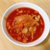 「蒸し大豆と野菜のトマトスープを作りました!【サラダSOY】」の画像(1枚目)