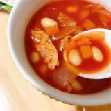 「蒸し大豆と野菜のトマトスープを作りました!【サラダSOY】」の画像(3枚目)