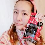 JUSO KURO SOAP(重曹炭酸洗顔)使ってみました☆出してみると真っ黒ー!インパクトー!(✷‿✷) 洗顔ネットで泡立てるとモコモコ濃密な泡!肌に乗せるともっちり気持ちいい♡…のInstagram画像