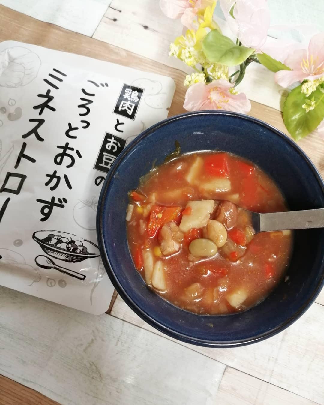 口コミ投稿:アイケイ様から『鶏肉とお豆のごろっとおかずミネストローネ』いただきました😊❤️ ビ…