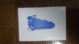 「足が汚れない足形用インキパッド」で可愛い足形がとれました!
