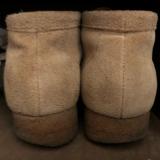 愛用靴のかかとの減り方  楽歩 O脚用インソールで矯正の画像(1枚目)