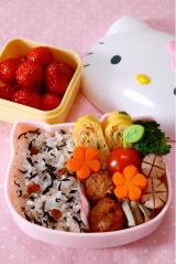 アサムラサキ カリカリ梅ひじきのお弁当の画像(1枚目)