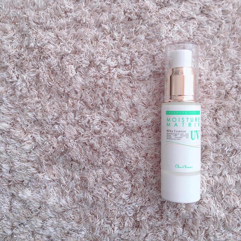 口コミ投稿:モイスチャーマトリックスUV本格セラミド美容液に紫外線防御剤を配合した日焼け…