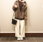 #きょコ ...✅靴下感覚で履ける軽量 #ニットスニーカー で着回しコーデ🌸#ワンショル トップス肩出しまだ寒いからシャツアウター羽織ったよ🥺白のリ…のInstagram画像