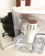 . .ストウブでご飯🍚炊いてから主人が土鍋ご飯にハマってしまい、ご飯炊く用の土鍋で最近ご飯を焚いているのですが、お米用のお水で更に艶々な米に🥰👍🏻..やはり電気で炊くより美味しい😍🙌🏻.…のInstagram画像
