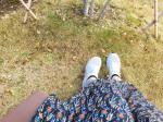 👟My new shoes.✨幼稚園まで徒歩の送り迎えなのでスニーカーの出番が多いです!でも突然走り出す子供達を追いかけると紐が解けてしまうことも多いので…のInstagram画像