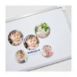 🌟@minnano_badge 様よりマグネットとバッジをモニターさせていただきました💗作り方がとっても簡単で、①アプリダウンロードして②写真とサイズ選…のInstagram画像