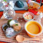 モンマルシェ 野菜を食べるレンジカップスープ【野菜をMotto!!】シリーズより【バターナッツかぼちゃの具入りスープ》*長野県産バターナッツかぼちゃの実がたっぷり入ったポタージュスープ🎃濃厚で…のInstagram画像