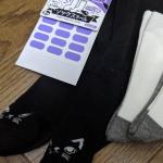 靴下の名前付けってすぐ見えなくなって苦労するもの。このソックスラベルなら仮止めのシールで上からアイロンがけ、楽ちんかんたん。黒い靴下も白い靴下も楽勝です!#くつした #おなまえつけ…のInstagram画像