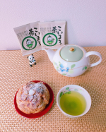 至福のおやつタイム美味しいスイーツには飲物が欠かせません今日は、京都の宇治田原製茶の #こいまろ茶 でtea  break ♡ 職人さんの経験と感性を融合茶葉の特性も最大限に活…のInstagram画像
