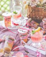 おうちでゼリーパーティ🌸3層仕立てのジュレパルフェ 白桃ゼリー さくらmixそのまま食べても美味しいけどおうち時間を楽しむなら……のInstagram画像