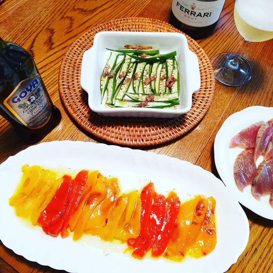 口コミ投稿:週末はワインに合うメニュー♪この日はスプマンテのフェッラーリと。 ・・・オクラア…