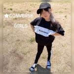 ★CONVERSE の可愛い切替Tシャツとレギンスをgetしたよ( ⁎ᵕᴗᵕ⁎ )❤︎昔からCONVERSE好きでよく着せてるんだけど、大人っぽくもかっこよくも着こなせるからお気に入…のInstagram画像