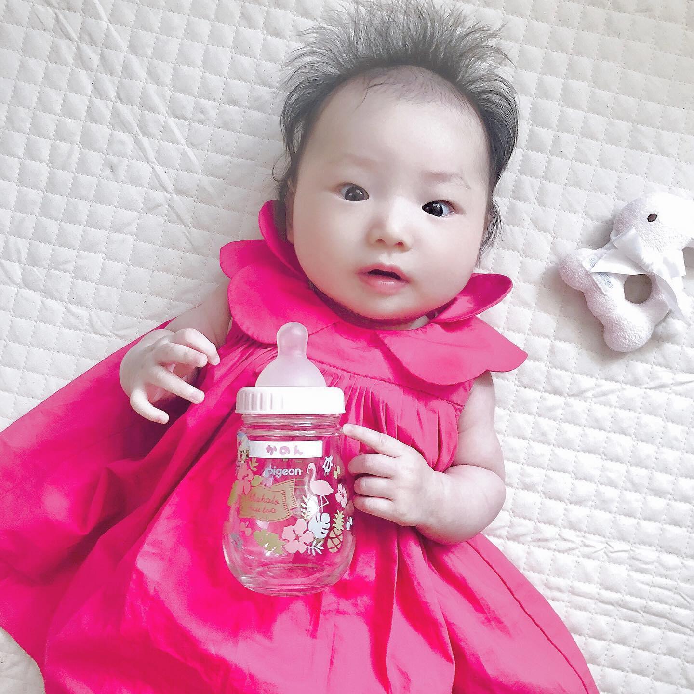 口コミ投稿:🌷 今日のおもちちゃん、おやゆび姫みたい😍もしおっぱいがあげられない状況のと…