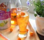 🔶金柑×アイスティー爽やかな5月。冷たいドリンクの出番が多くなります。今日はアイスティーをチョイス。水出しで作れる、日東紅茶「水出しアイスティー(アールグレイ)」です。…のInstagram画像