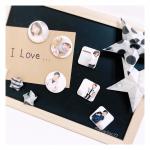 𓂃 ˚‧ 𓆸⁑ .#みんなのバッジ で作ったマグネット祖母にプレゼント⸜(*ˊᗜˋ*)⸝⋆* .黒板風の板に子供からのお手紙と長男が作ったスターの折り紙◡̈❁*マグネットは…のInstagram画像
