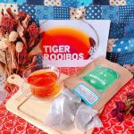 TIGER【オーガニック 生葉(ナマハ)ルイボスティー】ルイボスティーの中でも、オーガニック認証を取得した最高級グレードの茶葉を100%使用❣️蒸気を使うことであえて発酵を止めるのInstagram画像
