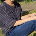 子供と公園へお散歩!ニッセンの綿100%バスクドルマンTシャツを着ています😊生地がしっかりしていてゆったりとした作りなので動きやすい✨5/29の11時までセールをしていて¥1,740 …のInstagram画像