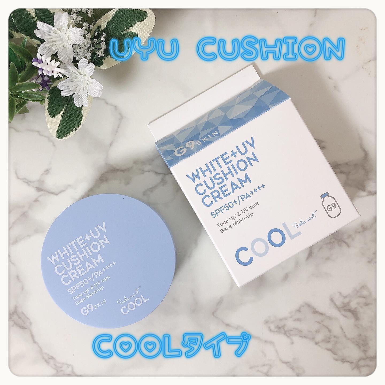 口コミ投稿:❁ G9 WHITE+UVクッションクリーム COOL ❁︎\ 1つで4役!夏にオススメのウユク…